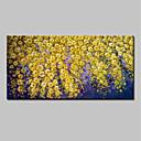billiga Abstrakta målningar-Hang målad oljemålning HANDMÅLAD - Blommig / Botanisk Abstrakt Moderna Inkludera innerram / Sträckt kanfas
