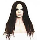 billige Førsteklasses syntetiske blondeparykker-Syntetiske parykker Afro Kinky Curly Kinky Krøllet Afro Parykk Lang Mørkebrun / Mørk Rødbrun Svart Mørkebrun / Medium Rødbrun Syntetisk hår Dame Falske dreads Afroamerikansk parykk Afrikanske fletter