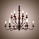 ราคาถูก วิกผมจริง-โคมไฟระย้า Ambient Light ทาสีเสร็จสิ้น โลหะ สไตล์เทียน 110-120โวลล์ / 220-240โวลต์ / E12 / E14