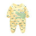 billige BabyGutterdrakter-Baby Gutt Dyr Langermet Kjeledress og jumpsuit Grønn