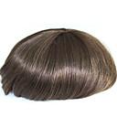 billiga Tupéer-6 tum remy mänsklig hår man toupee mänskligt hår toupee 8x10 inches mono bas män män stycke färg # 4