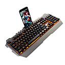 Χαμηλού Κόστους Πλήκτρα-AJAZZ METAL PIONEER USB Ενσύρματο μηχανικό πληκτρολόγιο πληκτρολόγιο Gaming Φωτίζει μονόχρωμος φωτισμός 104 pcs Κλειδιά