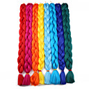 Χαμηλού Κόστους Ιδιαίτερες συνθετικές περούκες με δαντέλα-Μαλλιά για πλεξούδες Με βελονάκι Πλεξούδες Jumbo Συνθετικά μαλλιά 1 κουτί / πακέτο μαλλιά Πλεξούδες Μακρύ 100% μαλλιά kanekalon