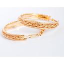 povoljno Naušnice-Žene Viseće naušnice Okrugle naušnice Personalized Naušnice Jewelry Zlato Za Vjenčanje Party Dnevno