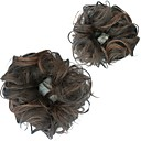 Χαμηλού Κόστους Αλογοουρές-Σινιόν / Κομμάτι μαλλιών Κότσος Ανθεκτικό στη Ζέστη Συνθετικά μαλλιά Κομμάτι μαλλιών Hair Extension Σκούρο Καφέ / Σκούρο Auburn