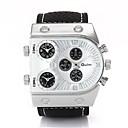 ราคาถูก รองเท้าOxfordสำหรับผู้ชาย-สำหรับผู้ชาย นาฬิกาใส่ลำลอง นาฬิกาแฟชั่น นาฬิกาข้อมือ นาฬิกาอิเล็กทรอนิกส์ (Quartz) หนัง ระบบอนาล็อก ขาว