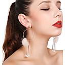 billiga Jewelry Set-Dam Dropp Örhängen Ringformade Örhängen damer Tofs örhängen Smycken Guld Till Party Dagligen