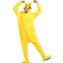 ราคาถูก ชุดนอน Kigurumi-ผู้ใหญ่ Halloween Props Holiday Jewelry Kigurumi Pajama Pika Pika Onesie Pajama ผ้าสักหลาด ผ้าขนแกะ สีเหลือง คอสเพลย์ สำหรับ ผู้ชายและผู้หญิง สัตว์ชุดนอน การ์ตูน Festival / Holiday เครื่องแต่งกาย