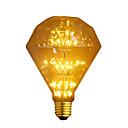 povoljno LED žarulje s nitima-1pc 3 W LED filament žarulje 300 lm E26 / E27 G95 47 LED zrnca COB Ukrasno zvjezdani Toplo bijelo 110-240 V / RoHs