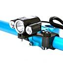 Χαμηλού Κόστους Φώτα Ποδηλάτου-LED Φώτα Ποδηλάτου Μπροστινό φως ποδηλάτου LED Ποδηλασία Βουνού Ποδήλατο Ποδηλασία Αδιάβροχη Super Bright Επαγγελματικό Φωτιστικό LED Μπαταρία λιθίου Άσπρο / Κράμα Αλουμινίου