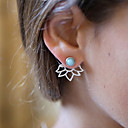 cheap Earrings-Women's Turquoise Jacket Earrings Flower Cheap Ladies Vintage Fashion western style Resin Earrings Jewelry Gold / Silver For Daily