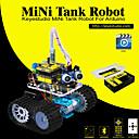 baratos Kits Faça-Você-Mesmo-keyestudio diy mini tank kit de carro robô inteligente para arduino iniciador de robôs manualpdf instalação videodemo video5 projetos