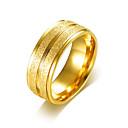 Χαμηλού Κόστους Αντρικά Δαχτυλίδια-Ανδρικά Band Ring Δαχτυλίδι αρραβώνων Δαχτυλίδια Groove Χρυσό Ασημί Ανοξείδωτο Ατσάλι Επιχρυσωμένο Κυκλικό Απλός Βασικό Γάμου Πάρτι Κοσμήματα