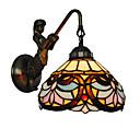 povoljno Zidni svijećnjaci-promjer 20cm retro zemlja sirena tiffany zidne svjetiljke staklo hlada dnevni boravak spavaća soba svjetiljka
