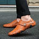 ราคาถูก รองเท้าแตะ & Loafersสำหรับผู้ชาย-สำหรับผู้ชาย รองเท้าขับขี่ หนังสัตว์ ตก / ฤดูหนาว รองเท้าส้นเตี้ยทำมาจากหนังและรองเท้าสวมแบบไม่มีเชือก สีดำ / สีน้ำตาล / หัวเข็มขัด / EU40