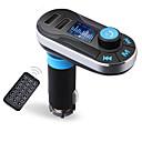 זול משדר FM לרכב/MP3 לרכב-Bluetooth דיבורית נגן דיבורית לרכב aux ידיים חינם משדר fm עם USB כפול mp3 sd Lcd לרכב מטען מצית