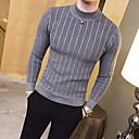 povoljno Muški džemperi i kardigani-Muškarci Dnevno Osnovni Dungi Jednobojni Dugih rukava Slim Regularna Pullover Džemper od džempera, Uski okrugli izrez Jesen / Zima Crn / Obala / Blushing Pink M / L / XL