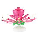 Χαμηλού Κόστους Κεριά & Κηροπήγια-1pc πλαστικό κλώση μουσικό κερί λουλουδιών γενεθλίων