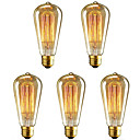povoljno Lusteri-5pcs 40 W E26 / E27 ST64 Toplo bijelo 2200-2700 k Retro / Zatamnjen / Ukrasno Žarulja sa žarnom niti Edison 220-240 V