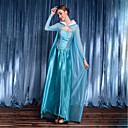olcso Film & TV témájú kosztümök-Hercegnő Istennő Elsa Fesztivál / ünnepek Poli / pamut Kék Farsangi jelmezek Tömör szín