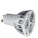 billiga LED-spotlights-HRY 1st 9 W LED-spotlights 600 lm GU10 3 LED-pärlor Högeffekts-LED Dekorativ Varmvit Kallvit 85-265 V / 1 st / RoHs
