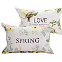baratos Fronhas e Conjuntos de lençóis-Cobertura de Almofada - 100% algodão Impressão Reactiva Floral 2pçs Fronhas de Almofada