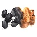 billige En pakke med hår-Brasiliansk hår Krop Bølge Remy Menneskehår Nyanse Nyanse Hårvever med menneskehår Hairextensions med menneskehår