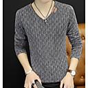 povoljno Sensori i alarmi-Muškarci Dnevno / Vikend Jednobojni Dugih rukava Slim Regularna Pullover Džemper od džempera, V izrez Jesen Crn / Plava / Red M / L / XL