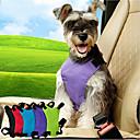 Χαμηλού Κόστους Αυτοκόλλητα Αυτοκινήτου-Γάτα Σκύλος Λουράκι-ζώνη αυτοκινήτου για σκύλους / Ζώνη ασφαλείας για σκύλους Προσαρμόσιμη Μονόχρωμο Νάιλον Μαύρο Βυσσινί Μπλε