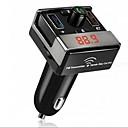 Χαμηλού Κόστους Φορτιστής Αυτοκινήτου-διπλή usb bluetooth hands-free mp3 συσκευή αναπαραγωγής ήχου αυτοκίνητο fm πομπός υποστήριξη tf κάρτα USB flash disk για το ios me3l