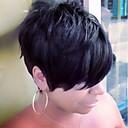 Χαμηλού Κόστους Περούκες από Ανθρώπινη Τρίχα-Ανθρώπινη Τρίχα Περούκα Κοντό Ίσιο Σύντομα Hairstyles 2019 Berry Ίσια Πλευρικό μέρος Μηχανοποίητο Γυναικεία Μαύρο Paleont Blonde Μέλι Ξανθιά / Λευκά Ξανθιά 8 Ίντσες