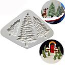 זול תבניות לעוגות-סיליקון עץ חג המולד עוגה עובש עץ אורז שוקולד עוגיות מטבח כלי אפייה