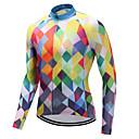 ราคาถูก เสื้อปั่นจักรยาน-FUALRNY® สำหรับผู้ชาย แขนยาว Cycling Jersey ส้ม ลายสก๊อต / ลายตาราง จักรยาน เสื้อยืด Tops ขี่จักรยานปีนเขา Road Cycling แห้งเร็ว กีฬา ความเย็นสุด® ไลคร่า เสื้อผ้าถัก / ความยืดหยุ่นสูง