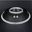 Χαμηλού Κόστους Σετ Κοσμημάτων-Γυναικεία Βασικό Κομψό Σκουλαρίκια Κοσμήματα Ασημί Για Γάμου Καθημερινά