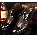 baratos Oxfords Masculinos-Homens Sapatos Confortáveis Couro Ecológico Primavera / Outono Formais Oxfords Preto / Marron / EU40