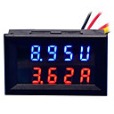 ราคาถูก มัลติมิเตอร์แบบดิจิตอลและออสซิลโลสโคป-diy ปฏิบัติคู่ 0.28 นิ้ว 3 หลักสีแดงสีน้ำเงินแสดงมิเตอร์นำกระแสไฟฟ้า (dc 0 - 100v / 50a)
