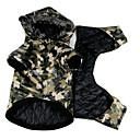 billiga Hundkläder-Hund Kappor Vinter Hundkläder Grön Kostym Stor hund Terylen Polis / Militär Ledigt / vardag XXL XXXL XXXXL XXXXXL