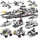 Χαμηλού Κόστους Building Blocks-BEIQI Τουβλάκια Κατασκευασμένα Παιχνίδια Εκπαιδευτικό παιχνίδι 472 pcs Στρατιωτικό Ποελμικό Πλοίο Αεροσκάφος συμβατό Legoing Νεό Σχέδιο Φτιάξτο Μόνος Σου 6 σε 1 Κλασσικό Κομψό & Μοντέρνο Σκάφος