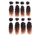 povoljno Perike s ljudskom kosom-Brazilska kosa Kovrčav Klasika Ljudska kosa Ombre Isprepliće ljudske kose Proširenja ljudske kose