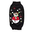 ราคาถูก เสื้อผ้าสำหรับสุนัข-สุนัข เสื้อกันหนาว ฤดูหนาว Dog Clothes สีดำ เครื่องแต่งกาย อคริลิคไฟเบอร์ คริสมาสต์ คริสมาสต์ XS S M L XL
