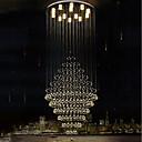 baratos Chaveiro-Lustres Luz Descendente Galvanizar Metal Cristal, Lâmpada Incluída, Designers 110-120V / 220-240V Branco Quente / Branco Frio / GU10