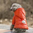 billiga Hundkläder-Hund Dräkter / Kostymer Kappor Huvtröjor Vinter Hundkläder Fuchsia Orange Kostym Tyg Terylen Prickig Ledigt / vardag Vattentät Håller värmen XS S M L XL XXL