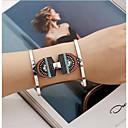 billiga Moderingar-Dam Armringar damer Personlig Mode Rostfritt stål Armband Smycken Ljusgul / Röd / Rosa Till Jul Dagligen / Försilvrad