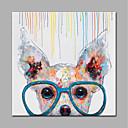 povoljno Slike za cvjetnim/biljnim motivima-Hang oslikana uljanim bojama Ručno oslikana - Životinje Moderna Bez unutrašnje Frame / Valjani platno
