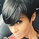Χαμηλού Κόστους Χωρίς κάλυμμα-Ανθρώπινη Τρίχα Περούκα Κοντό Ίσιο Σύντομα Hairstyles 2019 Berry Ίσια σύντομο Hot Πώληση Πλευρικό μέρος Μηχανοποίητο Γυναικεία Μαύρο Μεσαία Auburn Μεσαία Auburn / Bleach Blonde 8 Ίντσες