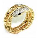billiga Trosor-Dam Armband av Remmar Orm damer Bergkristall Armband Smycken Guld / Silver Till Party Scen