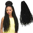 billige Hårfletter-Afro Heklet Krøllete Weave Afro Frekke Fletter Hairextensions med menneskehår 100% kanekalon hår Kanekalon fletter Hår til fletning 85 røtter