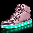 ราคาถูก รองเท้ากีฬาสำหรับผู้ชาย-เด็กผู้หญิง ความสะดวกสบาย / Light Up รองเท้า หนังสิทธิบัตร / วัสดุที่กำหนดเอง รองเท้าผ้าใบ เด็กน้อย (4-7ys) / Big Kids (7 ปี +) วสำหรับเดิน ลูกไม้ขึ้น / ตะขอและห่วง / LED สีดำ / ฟ้า / สีชมพู ตก / TR