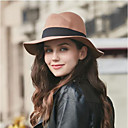 ราคาถูก เครื่องประดับผมสำหรับงานปาร์ตี้-สำหรับผู้หญิง สีพื้น ฝ้าย Pure Color, ฮารด์แวร์ - หมวกปีกกว้าง