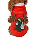 olcso Pet karácsonyi jelmezek-Cica Kutya Jelmezek Kapucnis felsőrész Tél Kutyaruházat Piros Jelmez Terylene Rénszarvas Szerepjáték Karácsony XS S M L XL
